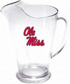 Mississippi Rebels 64 oz. Crystal Clear Plastic Pitcher