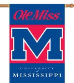 """Mississippi Rebels 2-Sided 28"""" x 40"""" Banner w/ Pole Sleeve"""