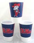 Mississippi Rebels 16 oz Cups