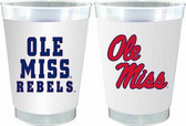 Mississippi Rebels 10 oz. Frosted Cups