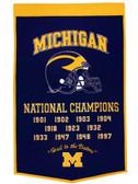 "Michigan Wolverines 24""x36"" Wool Dynasty Banner"