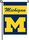 Michigan Wolverines 2-Sided Garden Flag Set w/ #11213 Garden Pole