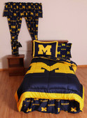 Michigan Bed in a Bag Queen - With Team Colored Sheets