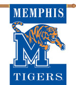 """Memphis Tigers 2-Sided 28"""" x 40"""" Banner w/ Pole Sleeve"""