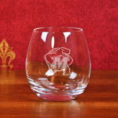 Maryland Terrapins Deep Etched Stemless White Wine Glass