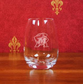 Maryland Terrapins Deep Etched Stemless Red Wine Glass