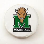 Marshall Thundering Herd White Tire Cover, Large