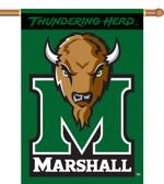 "Marshall Thundering Herd 2-Sided 28"" x 40"" Banner w/ Pole Sleeve"