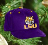 LSU Tigers Baseball Cap Ornament