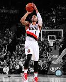 Portland Trail Blazers Damian Lillard Spotlight Action 40x50 Stretched Canvas