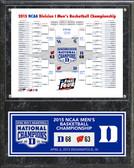 "Duke Blue Devils 2015 NCAA Men's College Basketball National Champions Bracket Plaque 15""x12"" Plaques"