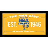 Golden State Warriors 2015 NBA Champions Man Cave Sign 10x20 Framed Photo