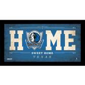 Dallas Mavericks 6x12 Home Sweet Home Sign