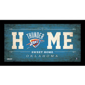 Oklahoma City Thunder 6x12 Home Sweet Home Sign