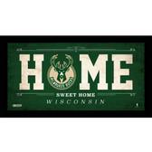 Milwaukee Bucks 6x12 Home Sweet Home Sign