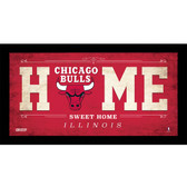 Chicago Bulls 6x12 Home Sweet Home Sign