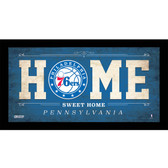 Philadelphia 76ers 10x20 Home Sweet Home Sign