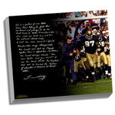 Lou Holtz Facsimile College Football Playoffs Story Stretched  16x20 Canvas