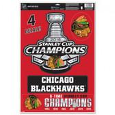 "Chicago Blackhawks 11""x17"" Ultra Decal Sheet - 2015 Champs"