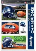 "Seattle Seahawks 11""x17"" Ultra Decal Sheet - Super Bowl 48 Champ"