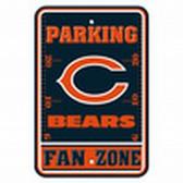 Chicago Bears 12x18 Plastic Fan Zone Sign