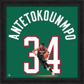 Milwaukee Bucks Giannis Antetokounmpo 20x20 Uniframe Jersey Photo