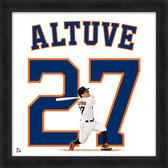 Houston Astros Jose Altuve 20x20 Uniframe Jersey Photo