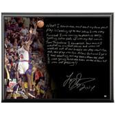 New York Knicks Larry Johnson Facsimile 4 Point Play Metallic 8x10 Story Plaque