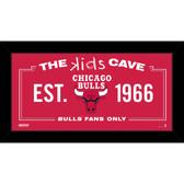Chicago Bulls 6x12 Kids Cave Sign
