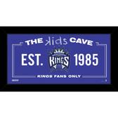 Sacramento Kings 6x12 Kids Cave Sign