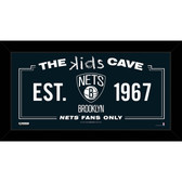 Brooklyn Nets 6x12 Kids Cave Sign