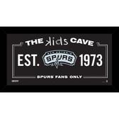San Antonio Spurs 6x12 Kids Cave Sign