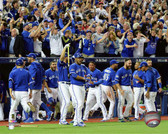 The Toronto Blue Jays celebrate winning Game 5 of the 2015 American League Division Series 40x50 Stretched Canvas