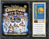 "Golden State Warriors 2015 NBA Finals Champions Composite Plaque 15"" x 12"""
