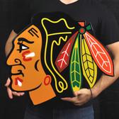 "Chicago Blackhawks 23"" Lasercut Steel Logo Sign"
