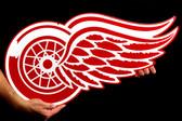 """Detroit Red Wings 26"""" Lasercut Steel Logo Sign"""