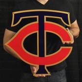"""Minnesota Twins 20"""" TC Lasercut Steel Logo Sign"""