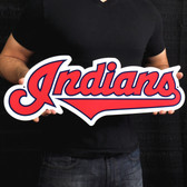 "Cleveland Indians 24"" Script Lasercut Steel Logo Sign"