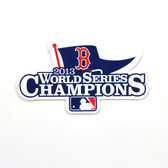 "Boston Red Sox 2013 World Series Champions 12"" Steel Logo Sign"