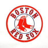 "Boston Red Sox 12""  Lasercut Steel Logo Sign"