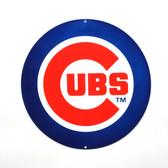 "Chicago Cubs 12"" Lasercut Steel Logo Sign"