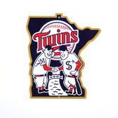 """Minnesota Twins 12"""" Minnie & Paul Lasercut Steel Logo Sign"""