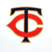 """Minnesota Twins 12"""" TC Lasercut Steel Logo Sign"""