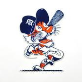 "Detroit Tigers 12"" Vintage Swinging Kitty Lasercut Steel Logo Sign"