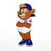 "Chicago Cubs 12"" Clark Mascot Standing Steel Logo Sign"