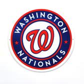 "Washington Nationals 12"" Lasercut Steel Logo Sign"