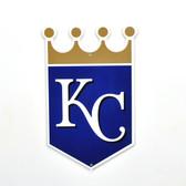 "Kansas City Royals 12"" Lasercut Steel Logo Sign"