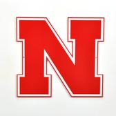 "Nebraska Cornhuskers 12"" Block N Lasercut Steel Logo Sign"