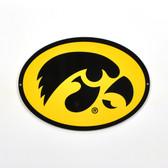 """Iowa Hawkeyes 12"""" Lasercut Steel Logo Sign"""
