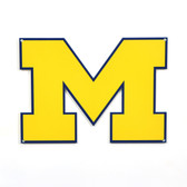 "Michigan Wolverines 12"" Lasercut Steel Logo Sign"